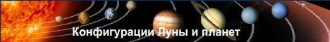 Конфигурации Луны и планет